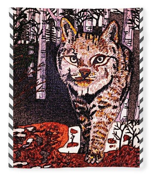 Wild Lynx 4 Fleece Blanket