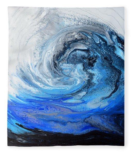 Wind And Wave Fleece Blanket