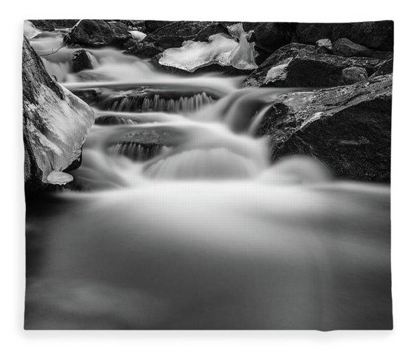Winter At The Ilse, Harz Fleece Blanket