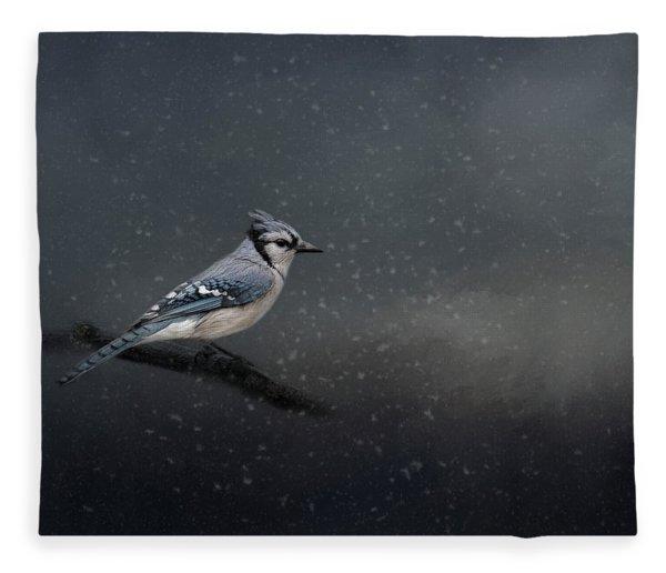 Winter Blues  Fleece Blanket