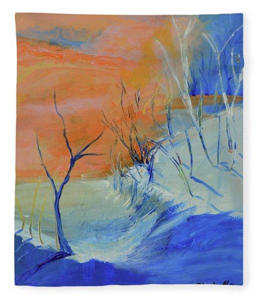Winter's Dawn Fleece Blanket