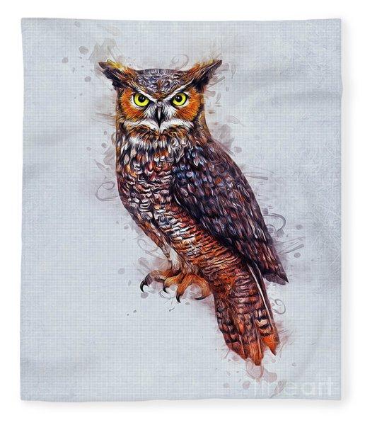 Wise Owl Fleece Blanket
