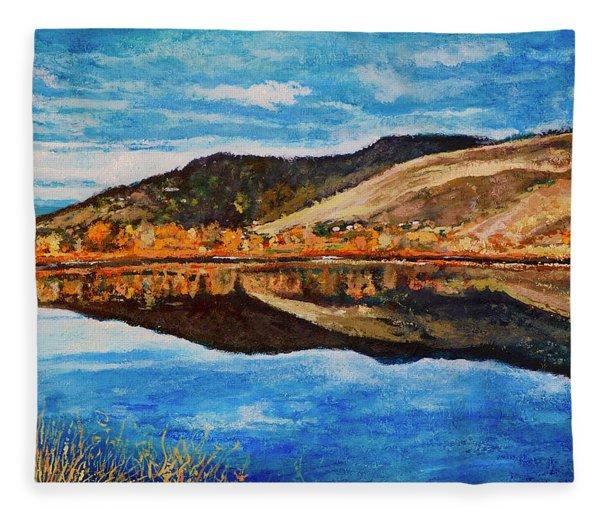 Wonderland Lake Fleece Blanket