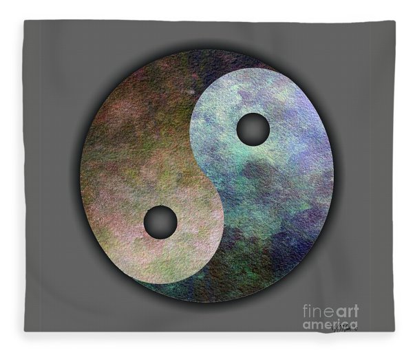 Yin And Yang Fleece Blanket