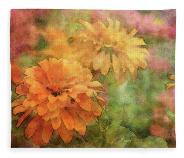 Zinnias 3063 Idp_2 Fleece Blanket