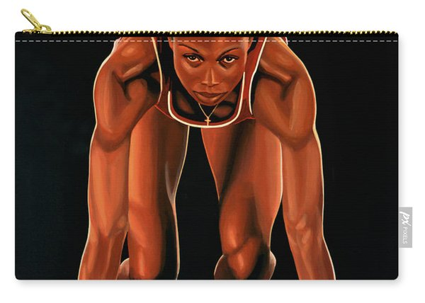 Allyson Felix Painting  Carry-all Pouch