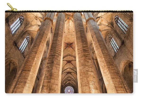 Basilica Of Santa Maria Del Mar In Barcelona Carry-all Pouch