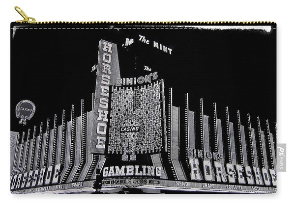 Binion's Horseshoe Casino Exterior Casino Center Las Vegas Nevada 1979-2014 Carry-all Pouch