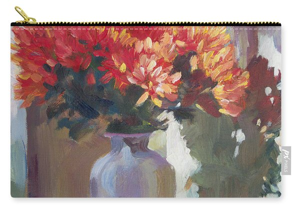 Chrysanthemums In Vase Carry-all Pouch