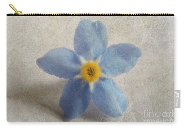 Myosotis 'forget-me-not'- Single Flower Carry-all Pouch