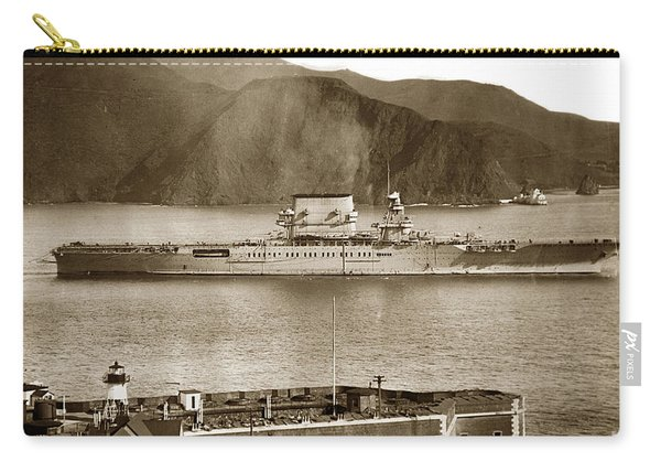 U. S. S. Lexington Cv-2 Fort Point Golden Gate San Francisco Bay California 1928 Carry-all Pouch