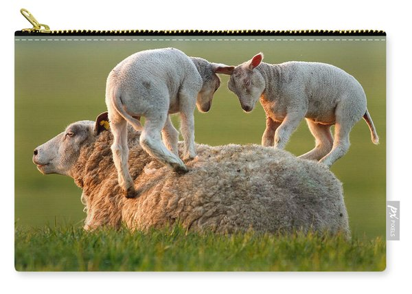 Leap Sheeping Lambs Carry-all Pouch