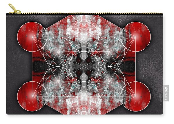 Metatron's Cube Red Carry-all Pouch