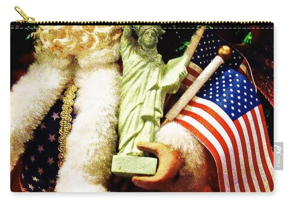 Patriotic Santa Carry-all Pouch