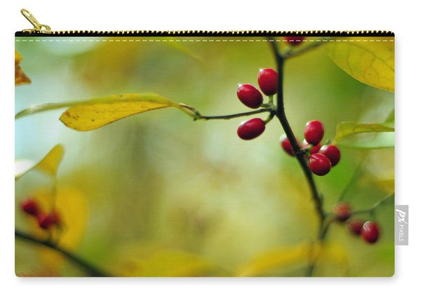 Spicebush With Red Berries Carry-all Pouch
