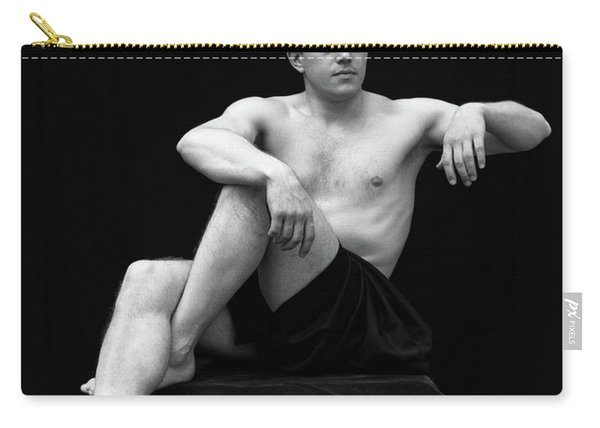 1920s Man Semi Nude Classical Pose Carry-all Pouch