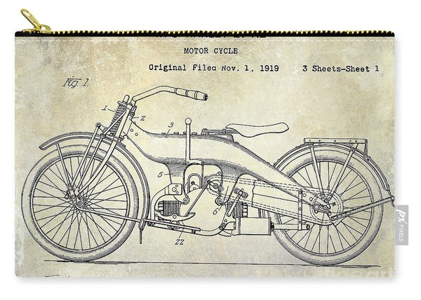 1924 Harley Davidson Motorcycle Patent  Carry-all Pouch