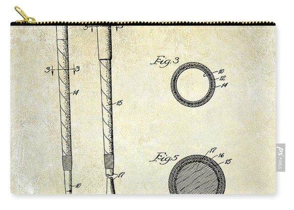 1938 Golf Club Grip Patent Drawing Carry-all Pouch