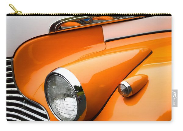 1940 Orange And White Chevrolet Sedan Carry-all Pouch