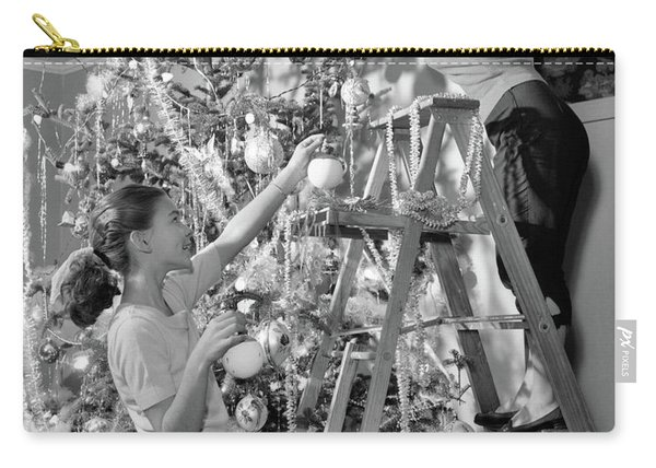 1950s Mother And Daughter Decorating Carry-all Pouch