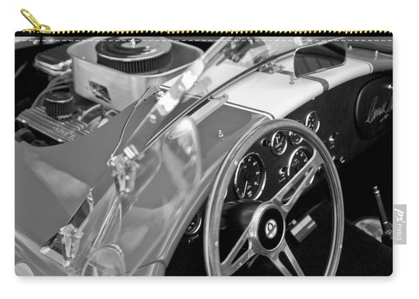 1955 Ac Cobra Steering Wheel And Engine Carry-all Pouch