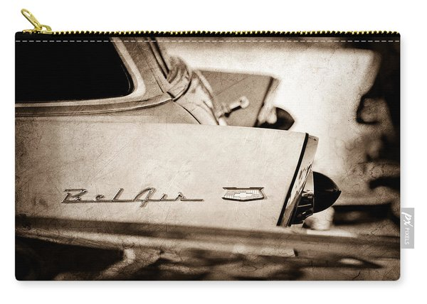 1956 Chevrolet Belair Nomad Rear End Emblem Carry-all Pouch