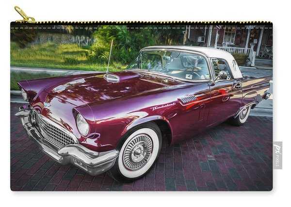1957 Ford Thunderbird Convertible Painted    Carry-all Pouch