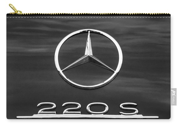 1958 Mercedes-benz 220s Cabriolet Emblem Carry-all Pouch