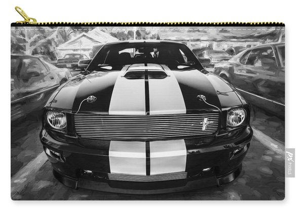 2007 Ford Mustang Shelby Gt Painted Bw   Carry-all Pouch