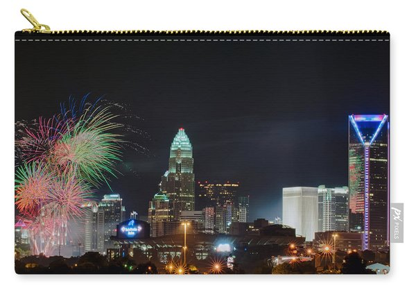 4th Of July Firework Over Charlotte Skyline Carry-all Pouch