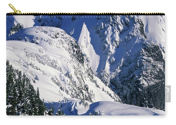 A Female Snowboarder Hiking Carry-all Pouch