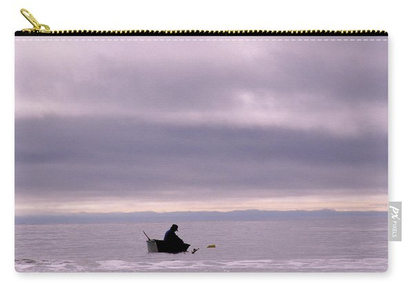 A Man In A Boat In The Bering Strait Carry-all Pouch