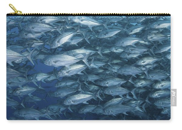 A Massive School Of Bigeye Trevally Carry-all Pouch
