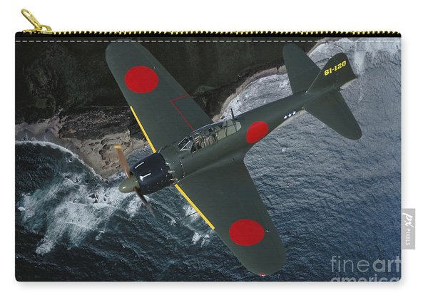 A6m Japaneese Zero Flying Over Chino Carry-all Pouch