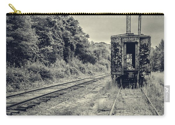 Abandoned Burnt Out Train Cars Carry-all Pouch
