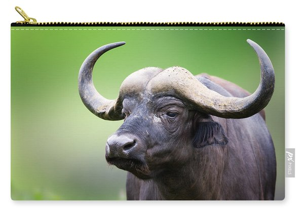 African Buffalo Portrait Carry-all Pouch