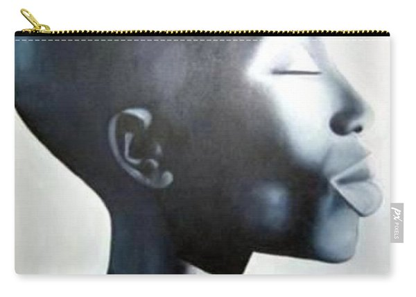 African Elegance - Original Artwork Carry-all Pouch