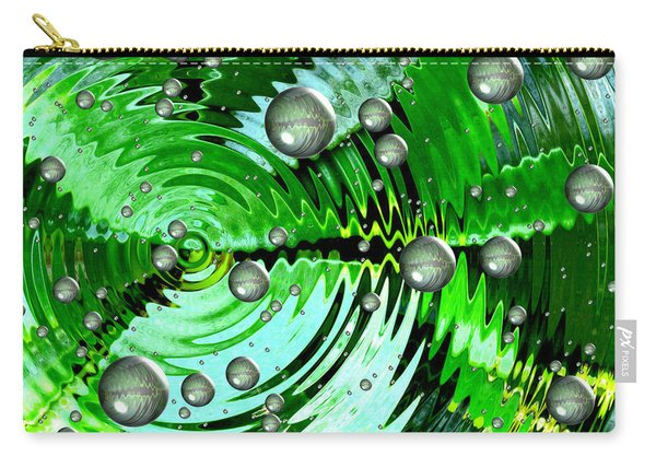 Amazing. Abstract Art. Green Grey  Blue Yellow  Carry-all Pouch