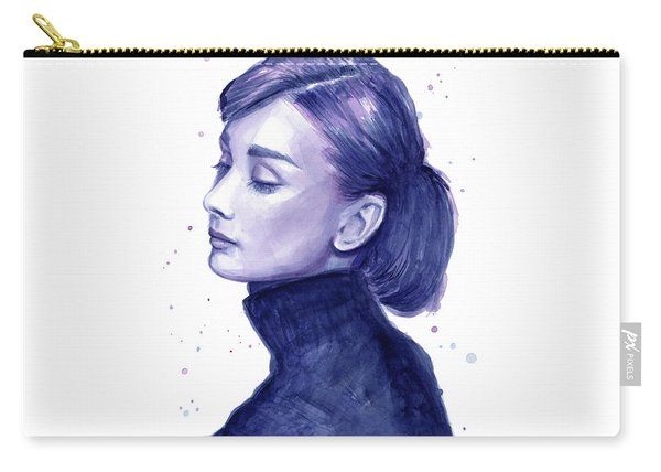 Audrey Hepburn Portrait Carry-all Pouch
