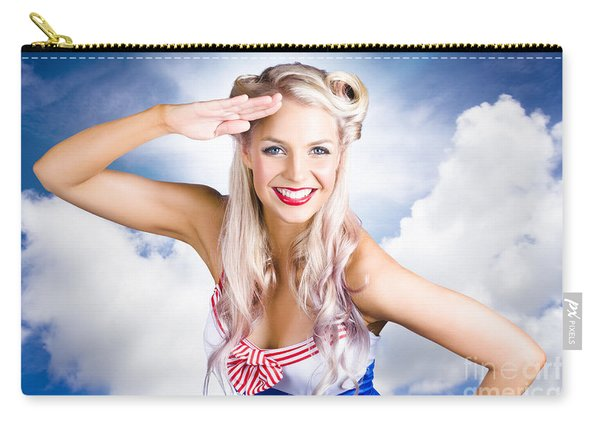 Australian Navy Girl Saluting Australia Day Carry-all Pouch