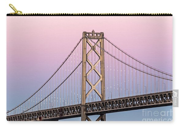 Bay Bridge Lights At Sunset Carry-all Pouch