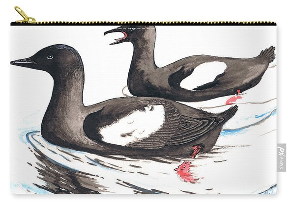 Black Guillemot Carry-all Pouch