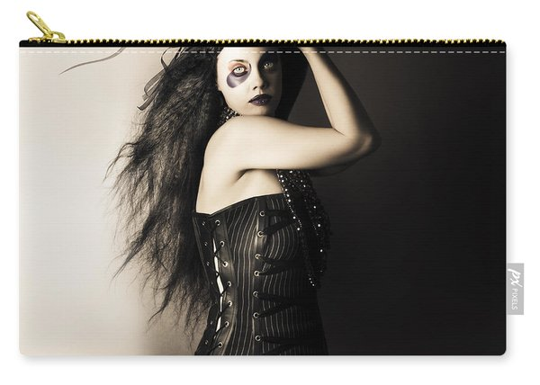 Black Portrait Of A Sexy Fashion Make Up Model   Carry-all Pouch