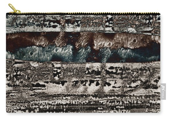 Blue And Black Textures Carry-all Pouch