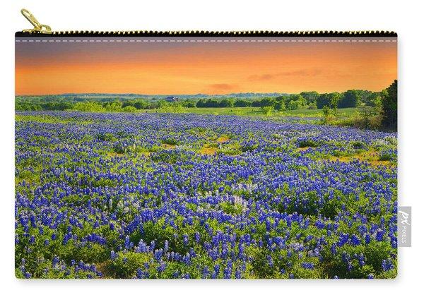 Bluebonnet Sunset  Carry-all Pouch