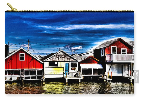 Carry-all Pouch featuring the photograph Boathouse Row by William Norton