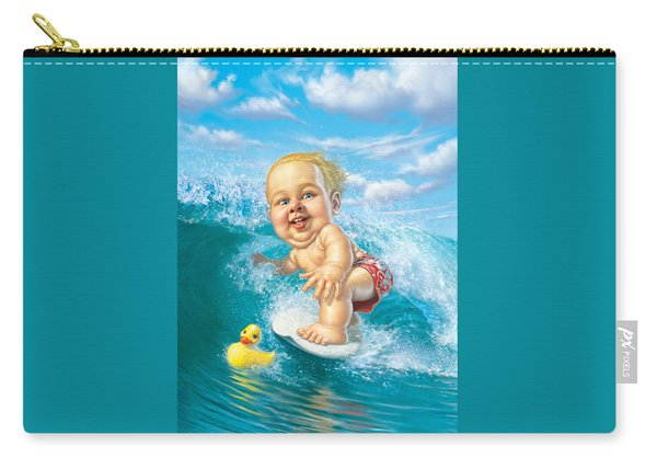 Born To Surf Carry-all Pouch