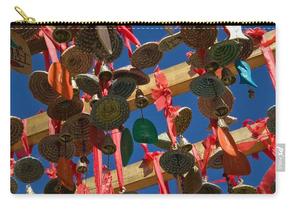 Buddhist Prayer Wishes Ema Hanging Carry-all Pouch
