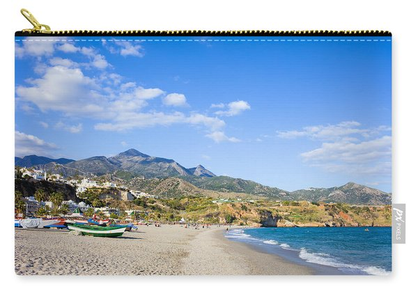 Burriana Beach In Nerja Carry-all Pouch