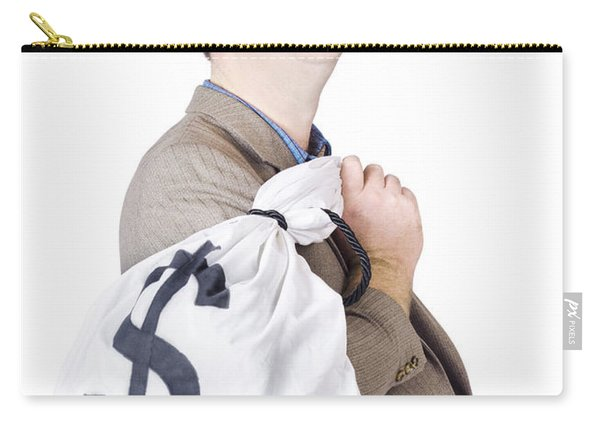 Business Man Getting Interest Free Loan Carry-all Pouch